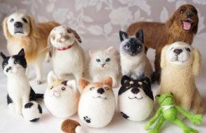 ペットそっくりの羊毛フェルト人形『てのりっこ』